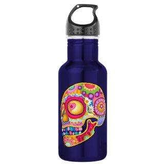 Sugar Skull - Day of the Dead Art 532 Ml Water Bottle