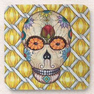 Sugar skull Day of the Dead Coasters