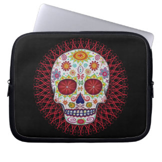 Sugar Skull Day of the Dead Laptop Sleeve