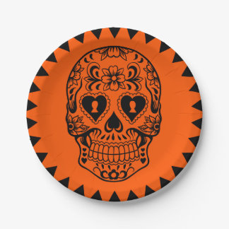 Sugar skull,Day of the Dead plates
