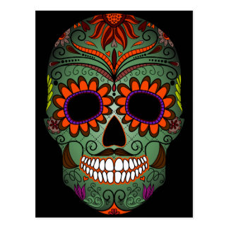 Sugar Skull Day of the Dead Postcard