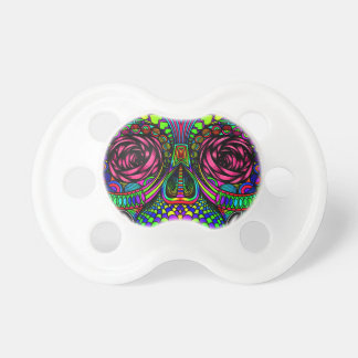 Sugar Skull Day of the Dead Rainbow Colorful Art Baby Pacifiers