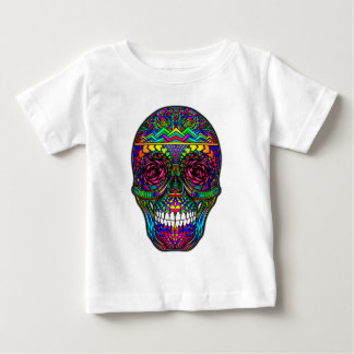 Sugar Skull Day of the Dead Rainbow Colorful Art Baby T-Shirt