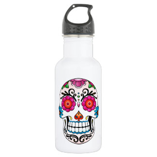 Sugar Skull - Day of the Dead, Tattoo, Mexico 532 Ml Water Bottle