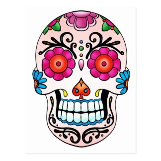 Sugar Skull - Day of the Dead, Tattoo, Mexico Post Card