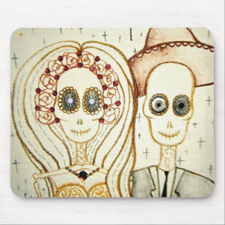sugar skull day of the dead tattoo mouse matt mouse pad