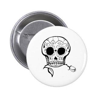 Sugar Skull Día de los Muertos Buttons