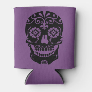 Sugar Skull Drink Coozy Can Cooler