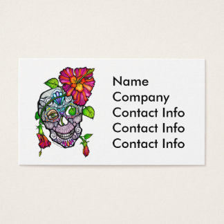 SUGAR SKULL & FLOWER BUSINESS CARD