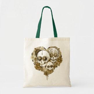 sugar skull flower day of the dead tote bag