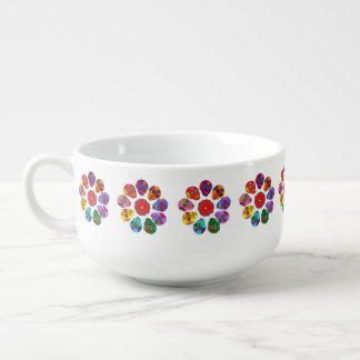 Sugar Skull Flowers Soup Mug