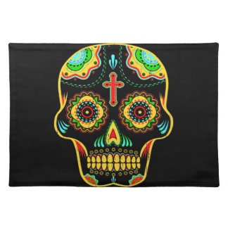 Sugar skull full color placemat