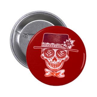 Sugar Skull Gentleman Button