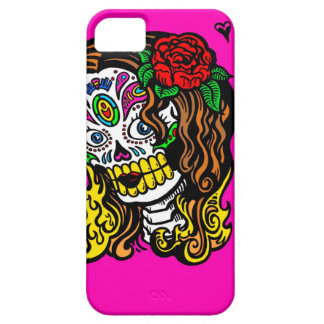 sugar skull girl barely there iPhone 5 case