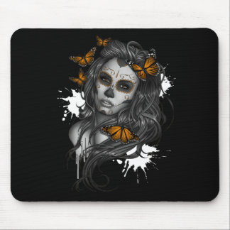 Sugar Skull Girl Mouse Pad