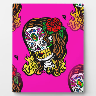 sugar skull girl plaque