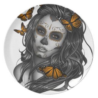 Sugar Skull Girl Plate