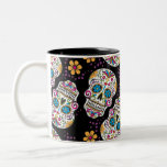 Sugar Skull Halloween Black Two-Tone Mug