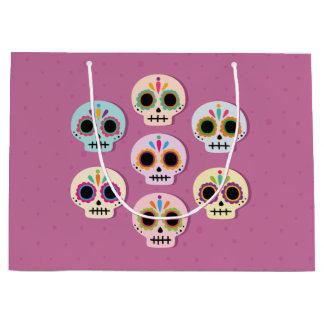 Sugar Skull. Halloween. Large Gift Bag