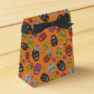 Sugar Skull Halloween Party Favors and Treats Favour Box