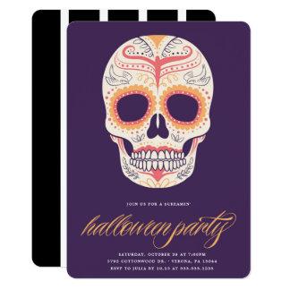 Sugar Skull Halloween Party Invitation