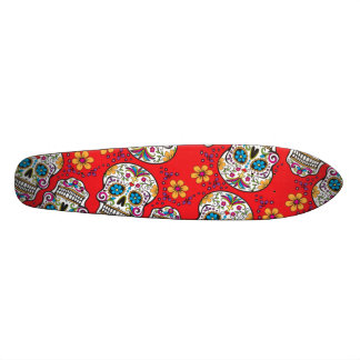 Sugar Skull Halloween Red.png 21.6 Cm Old School Skateboard Deck