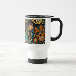 SUGAR SKULL Halloween Travel Mug