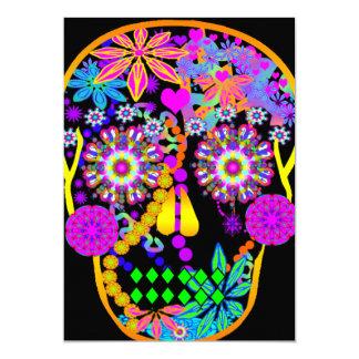 Sugar Skull   Hawaiian Tiki Card