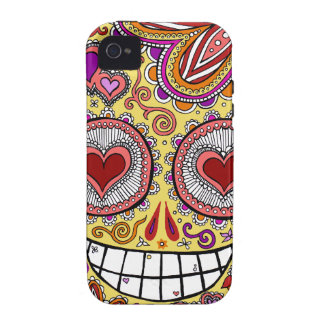Sugar Skull Heart iPhone 4/4S Case-mate Vibe Case iPhone 4/4S Cases