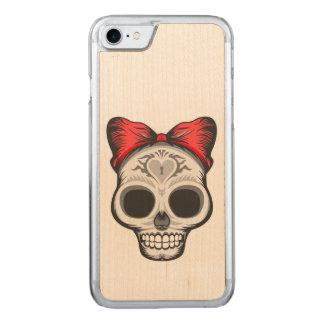 Sugar Skull Illustration Carved iPhone 8/7 Case