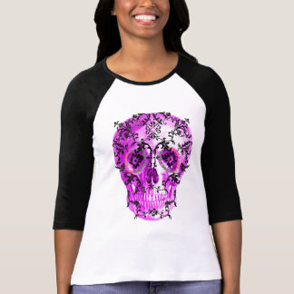 SUGAR SKULL IN VINES PRINT T-Shirt