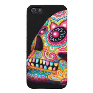 Sugar Skull iPhone 5 Case - Day of the Dead Art