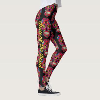 Sugar Skull Leggings Day Of The Dead Yoga Pants