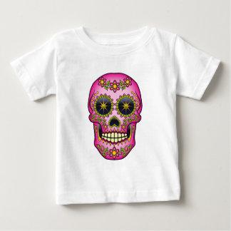 Sugar Skull  - Magenta Floral Baby T-Shirt