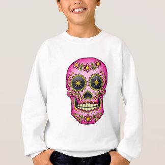 Sugar Skull  - Magenta Floral Sweatshirt