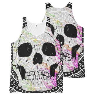 Sugar Skull Mandala All-Over Print Singlet