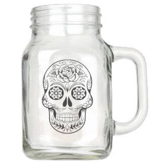Sugar skull mason jar