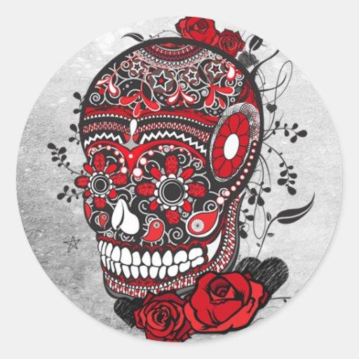 Sugar Skull Mexican Calveras Illustration Stickers
