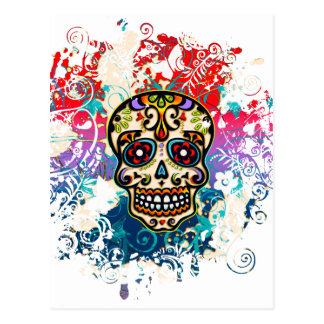 Sugar Skull, Mexico, Dias de los Muertos Postcard