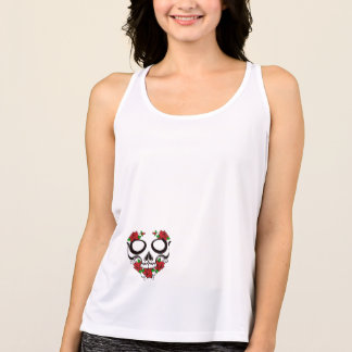 """sugar skull ""New Balance tank top"