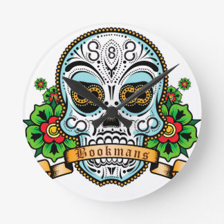 Sugar Skull Original Round Clock