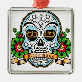 Sugar Skull Original Silver-Colored Square Decoration