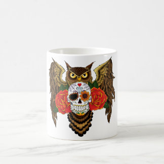 Sugar Skull Owl Coffee Mug
