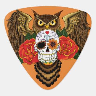 Sugar Skull Owl Guitar Pick