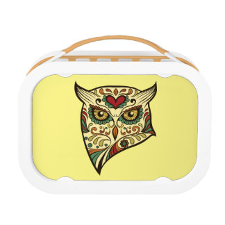 Sugar Skull Owl - Tattoo Design Lunch Boxes