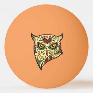 Sugar Skull Owl - Tattoo Design Ping Pong Ball