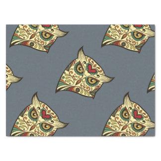 Sugar Skull Owl - Tattoo Design Tissue Paper