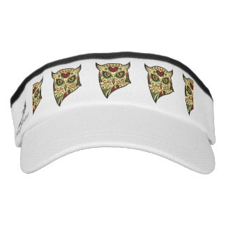 Sugar Skull Owl - Tattoo Design Visor