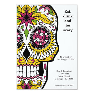 Sugar Skull party 13 Cm X 18 Cm Invitation Card