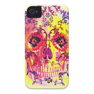 SUGAR SKULL PASTEL BRIGHTS PRINT Case-Mate iPhone 4 CASES